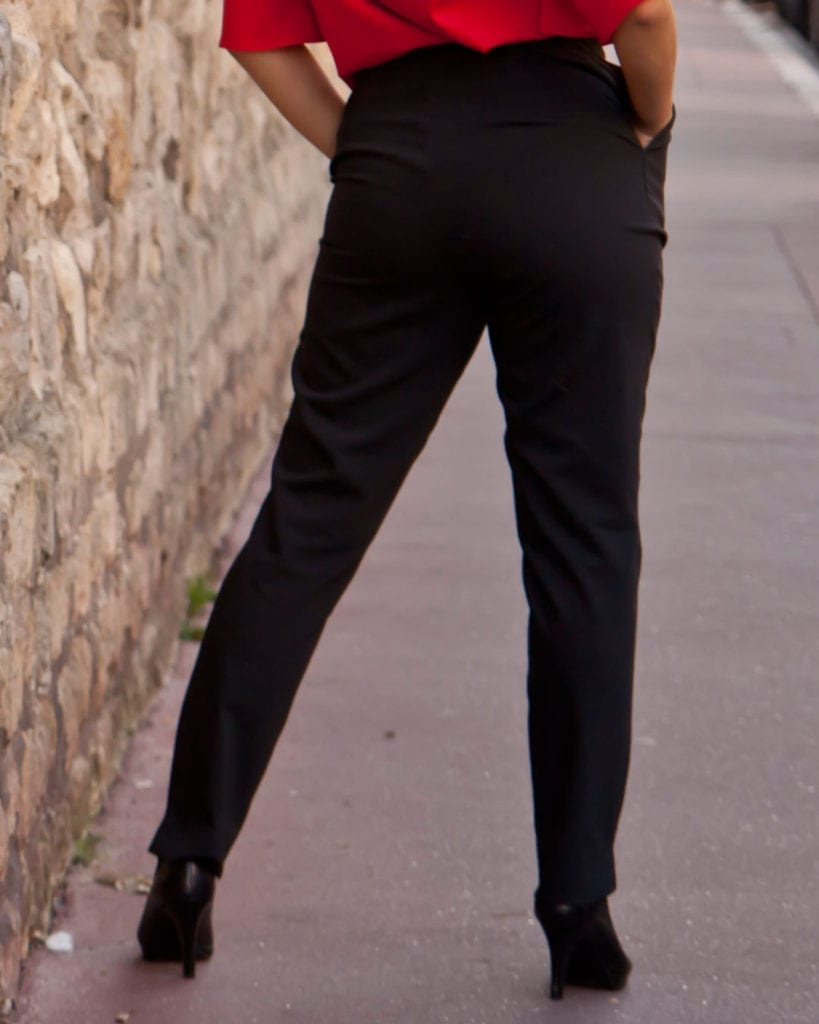 Lofty, Petite Black Tailored trousers