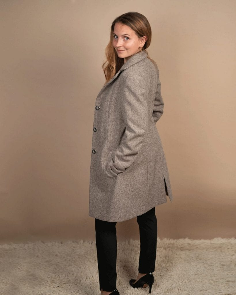 Passion, A Petite 100% wool winter coat Made in France