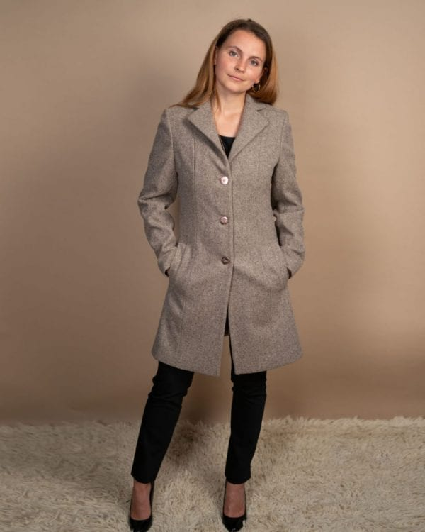 Three quarter length coat for petite women