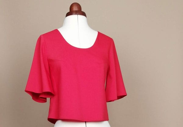 crop top audacia rouge